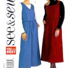 B3935 Butterick Pattern EASY SEE & SEW Jumper Misses/Miss Petite Size 20, 22, 24