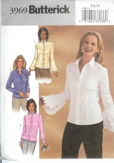 B3969 Butterick Pattern EASY Blouse Misses/Miss Petite Size 6, 8, 10