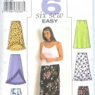 B3783 Butterick Pattern 6 EASY SEW Skirt Misses Size 28W,30W,32W