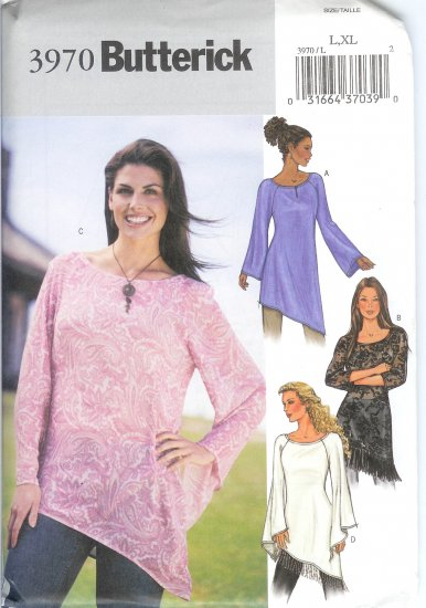 B3970 Butterick Pattern EASY Tunic PETITE Misses Size XS, S, M