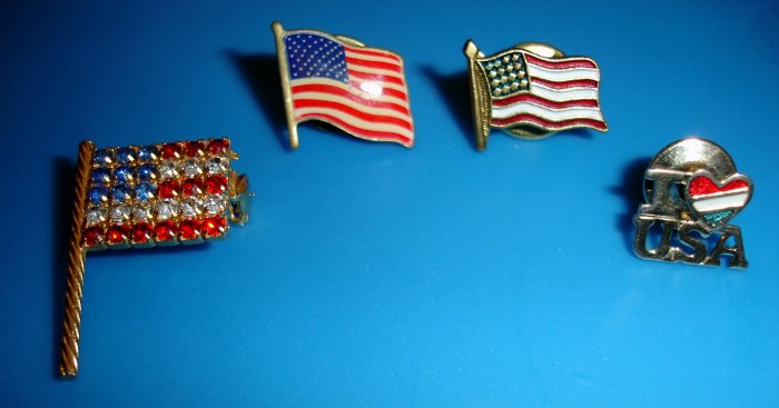 Mix of Americana Pins / some vintage