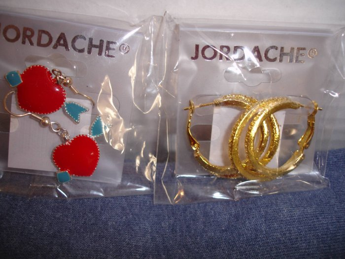 2 Pairs of NIP JORDACHE earrings