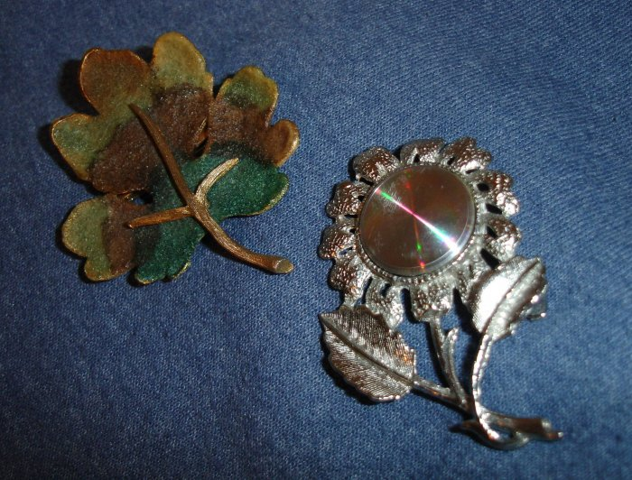2 Signed Brooches - BSK and  1960's Jewelarama