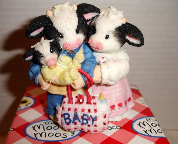 "MARYS MOO MOOS ""New Baby Figurine"" with all packaging"