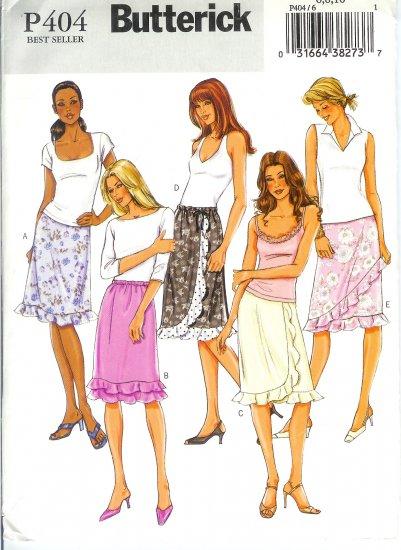 BP404 Butterick Pattern EASY Skirt Misses Size 6,8,10