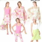 BP414 Butterick Pattern EASY Poncho, Top, Skirt, Pants, Hat & Bag Misses Size EE 14-20