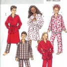 BP437 Butterick FAST&EASY Robe, Belt, Top, Pants Boy/Girl Size CS 12-16
