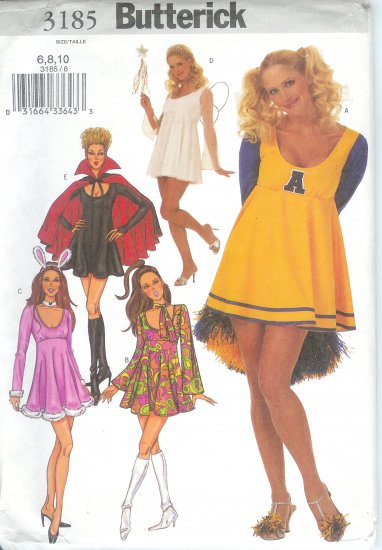 B3185 Butterick Pattern Costumes Misses Size 6, 8, 10 OOP