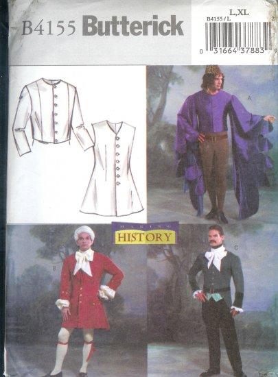 B4155 Butterick Pattern HISTORY Costumes Mens Size L, XL