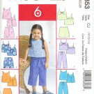 MP353 McCalls 6 EASY LOOKS Tops, Skorts, Shorts, Capri Pants Child/Girl CCE 3-4-5-6