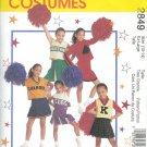 M2849 McCalls Pattern Cheerleading Costume Child/Girl Size 8 - 10