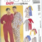 M3860 McCalls Pattern ENDLESS OPTIONS Tops,Nightshirts,Jumpsuit,Pants Miss/Mens/Teen Boys Size  XS-M