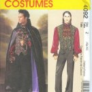 M4092 McCalls Pattern VAMPIRE Lined Cape, Vest, Shirt, Jabot Mens Size XL - XXL