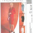 M4172 McCalls Pattern CUT - TO - FIT Dress, Tunics, Skirt Misses/Miss Petite Size BB 8-10-12-14