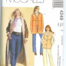M4249 McCalls Pattern Coat, Jacket, Vest Misses Size Y  XS-S-M
