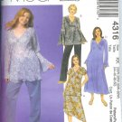 M4316 McCalls Pattern EASY Woman Style- Tops,Dress,Skirt, Pants Womens/Womens Petite Size KK 26W-32W