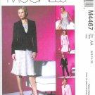 M4467 McCalls NON STOP WARDROBE Lined Jacket,Top,Bias Skirt,Pants Misses/Miss Petite Size 14-20