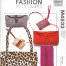 M4533 McCalls Pattern FASHION ACCESSORIES Handbags