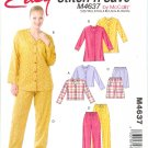 M4637 McCalls Pattern  STITCH N SAVE Tops, Shorts, Pants Misses Size B  L, XL
