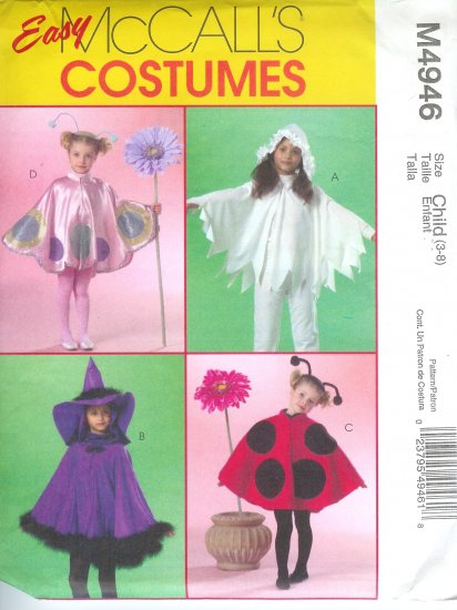 M4946 McCalls Pattern EASY COSTUMES  Child/Girls Size 3-8