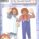 S4003 Simplicity RAGGEDY ANN & ANDY Costume Toddler/Child Size BB 3,4,5,6,7,8
