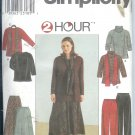 S8805 Simplicity Pattern 2 HOUR Top, Skirt, Pants & Scarf Womens Size GG 26W - 32W