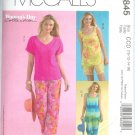 M4845 McCalls Pattern WOMANS DAY Tops, Shorts & Capri Pants Misses Size CCD 10-12-14-16