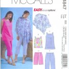 M4847 McCalls Pattern EASY OPTIONS Poncho,Top,Tunic,Shorts,Capri Pants Womens Size  18W-24W