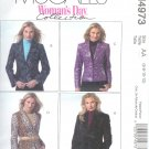 M4973 McCalls Pattern  WOMANS DAY Lined Jackets Misses/Miss Petite Size BB 8-10-12-14