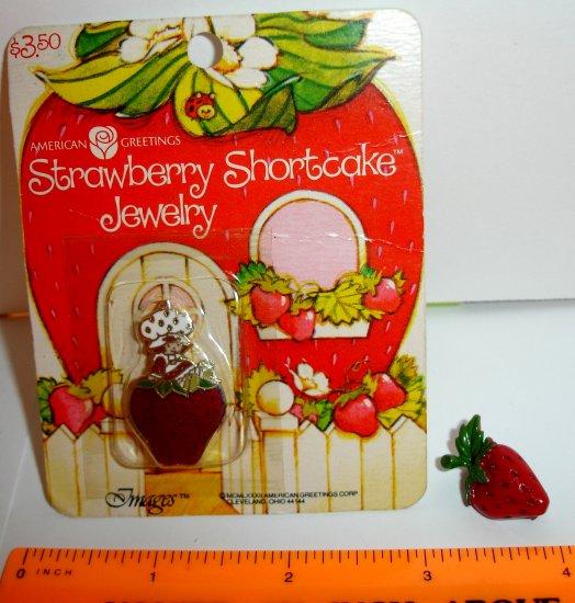 Strawberry Shortcake Pin (in pkg) - American Greetings