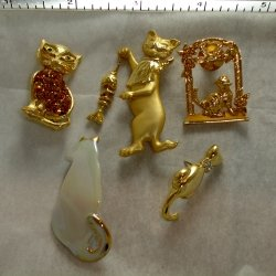 Cat Pins / Brooches -  AJC