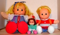 Fisher Price Dolls - Eddie , Sarah Lee , and  Maggie *Price to Sale*