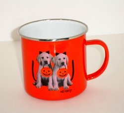 Large OLD NAVY  Mug with Puppies in Costumes