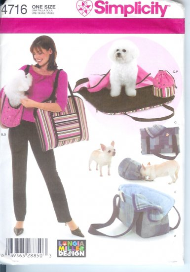 S4716 Simplicity Pattern LONGIA MILLER DESIGN Pet Accessories