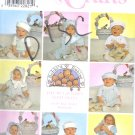 S8679 Simplicity Pattern CRAFTS (BOBBI'S BABIES) Basket, Bunnies, Babies Hats