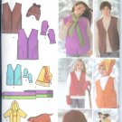 S4801 Simplicity Vest,Hats,Scarf, Mittens, Dog Coat, Pillow Unisex Childs/Teens/Adults XS-L / XS--XL