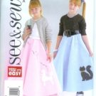 B4008 Butterick Pattern EASY 1950's Costume Skirt, Petticoat   Girls  All Sizes