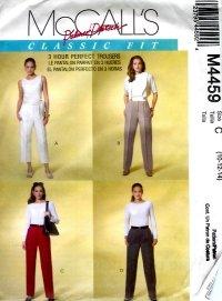 M4459 McCalls Pattern PALMER PLETSCH Pants in 2 Lengths Misses Size C 10-12-14