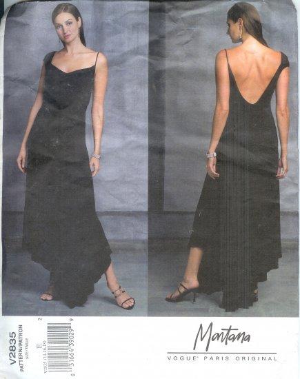 V2835 Vogue PARIS ORIGINAL-MONTANA Dress Misses Size 14, 16, 19