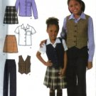 S4978 Simplicity Pattern Pants, Skirt, Shirt & Vest Childs & Girls Size 3, 4, 5, 6