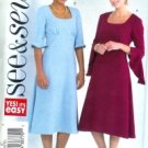 B4323 Butterick Pattern EASY SEE & SEW Dress Misses PETITE Size C 18 -20-22