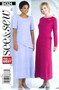 B4324 Butterick Pattern EASY Top & Skirt PETITE Misses Size 20 - 22- 24
