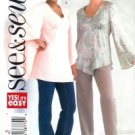 B4325 Butterick Pattern EASY Top PETITE Misses Size 6 -8-10