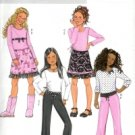 B4338 Butterick Pattern EASY Top, Skirt, & Pants Girls Size 7 - 8 - 10
