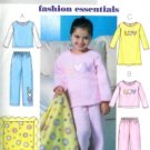 B4339 Butterick Pattern EASY Top, Gown, Pants, & Blanket Child/Girl Size 6 - 7 - 8