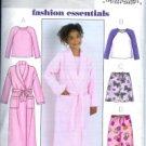 B4340 Butterick Pattern EASY Robe, Belt, Top, Shorts, & Pants PLUS Girl Size 7 - 14
