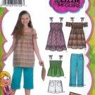 S4614 Simplicity LIZ McGUIRE Crop Pants,Shorts,Dress,Mini-Dress or Tunic,Top & Purse Child/Girl 7-14