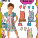 S4248 Simplicity Liz McGuire Dress with Bodice Variations, Shrug & Bag Child Size 3 - 8