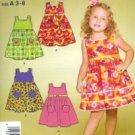 S4253 Simplicity Pattern EASY Dress Childs Size 3 - 8