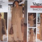V1437 Vogue Pattern Career Wardrobe by Tamotsu Jacket, Vest, Top, Skirt, Pants Miss Size 8, 10, 12